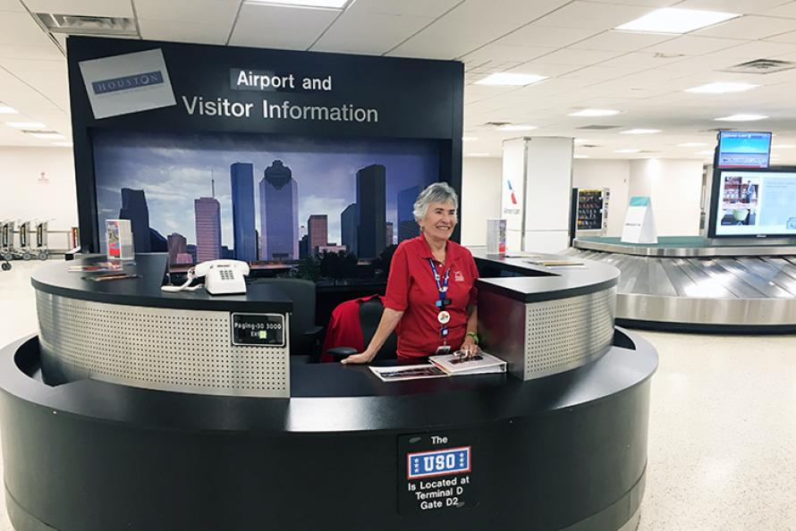 Houston Airports Celebrates Volunteer for 10 years of Service